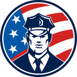 American Policeman Security Guard Retro Royalty Free Stock Photography