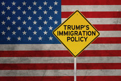 American Policy with sign road Stock Photography