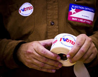 American polling official Royalty Free Stock Photo