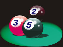 American pool balls Stock Photos