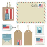 American postage Royalty Free Stock Images