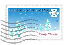 American Postage Stamp Christmas Royalty Free Stock Images