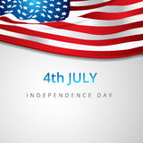 American Poster 4 july. Vector American flag background Print Royalty Free Stock Images