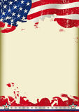 American poster waving flag background Royalty Free Stock Photos