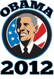 American President Barack Obama Flag Stock Photo
