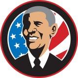 American President Barack Obama Flag stock illustration