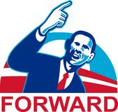 American President Barack Obama pointing forward royalty free illustration