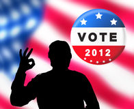 American presidential elections banner Stock Image