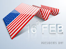 American Presidents Day celebration with creative flag. Royalty Free Stock Images