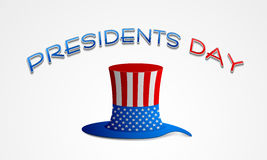 American Presidents Day celebration with hat. Royalty Free Stock Image