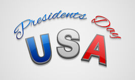 American Presidents Day celebration poster or banner. Royalty Free Stock Photo