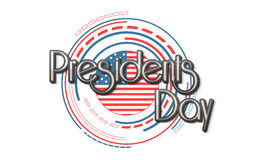 American Presidents Day celebration with stylish flag. Royalty Free Stock Photography