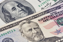 American presidents portraits on dollar bills Stock Photos