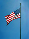 American Pride. The American flag waving and showing pride Stock Image