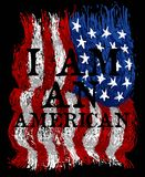 American print tees or poster and background Stock Photo
