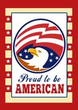 American Proud Eagle Poster Greeting Card Stock Images
