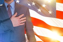 American Proud Patriot Royalty Free Stock Photos