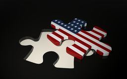 American Puzzle Piece - Flag of USA. Royalty Free Stock Photo