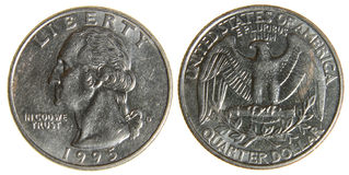 American Quarter from 1995 Royalty Free Stock Photo