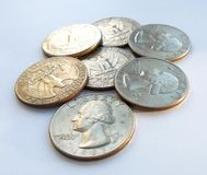 American quarters usa royalty free stock images