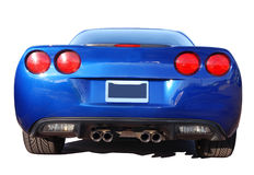 American Race Car. Blue American Race Car from behind Stock Image