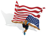 American Race Winner Royalty Free Stock Photo