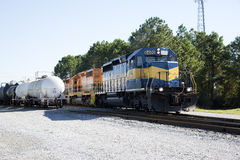 American railroad locomotive USA Royalty Free Stock Photography