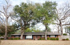 American Ranch Style Brick Home. Large ranch style brick American home Royalty Free Stock Image