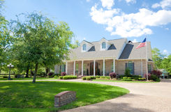 American Ranch Style Brick Home Stock Photo