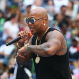 American rapper, singer, and songwriter Flo Rida participates at Arthur Ashe Kids Day 2016. NEW YORK - AUGUST 27, 2016: American rapper, singer, and songwriter Stock Photo