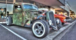 American rat rod. Custom built American rat rod on display at car show in Melbourne, Australia Stock Photography