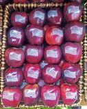 American Red Apples with USA flag Royalty Free Stock Photography