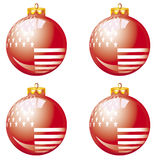 American red christmas balls Royalty Free Stock Photo