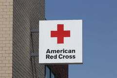 Free American Red Cross Sign. The American National Red Cross Provides Emergency Assistance And Disaster Relief Royalty Free Stock Photos - 199408938