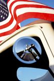 American Red White and Blue Flag Waving Vintage Classic 1950s Pi royalty free stock photos
