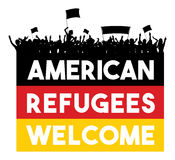 American Refugees Welcome Royalty Free Stock Photography