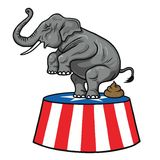 American Republican Party GOP Elephant Vector Cartoon Illustration. February 13, 2017 Stock Photos