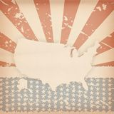 American retro background Royalty Free Stock Photo