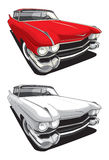 American retro car. Vectorial image of retro car isolated on white background Stock Photo
