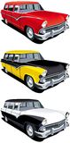 American retro station wagon Royalty Free Stock Image