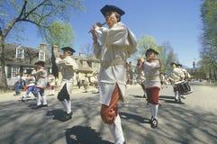 American Revolution Historical Reenactment, drummer boys in Williamsburg, Virginia Royalty Free Stock Image