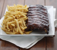American ribs meal Royalty Free Stock Images