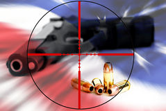 American Right to Bear Arms in Crosshairs Stock Image