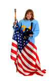 American Ringette Player Royalty Free Stock Photography