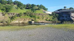 The American River. Just past Nimbus Dam royalty free stock photo