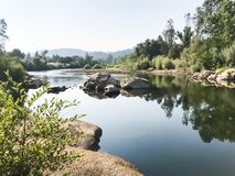 American River With Reflection royalty free stock image