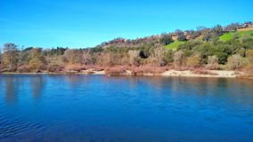 American River Sacramento CA. American River in January Royalty Free Stock Images