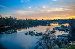 American River at Sunset Stock Images