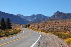 American road through the desert Royalty Free Stock Photo