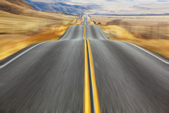 The American road and fencings Royalty Free Stock Image